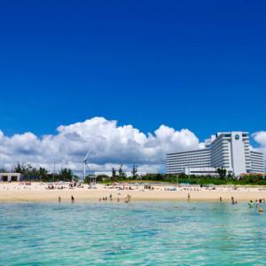 残波岬ロイヤルホテルのビーチ
