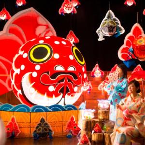 青森屋の夏の夏の金魚祭り