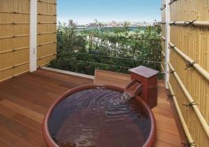 舞浜ユーラシアのお部屋の露天風呂