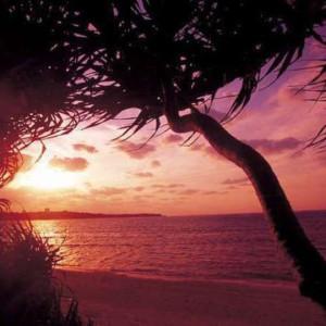 残波岬ロイヤルホテルの夕陽