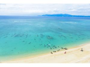 ベストウェスタン沖縄幸喜ビーチ前のビーチ