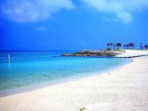 フクギテラスの周辺のエメラルドビーチ