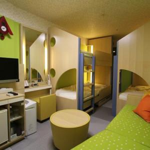 21平米のお部屋に2段ベッドが2つも!子供は楽しそう~!