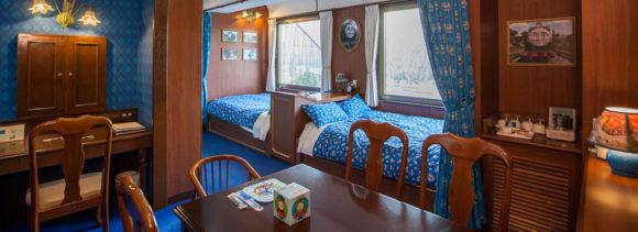 ハイランドリゾートのトーマスとヒロの急行客車のお部屋