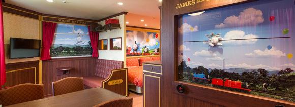 ハイランドリゾートのジェームスと客車のお部屋