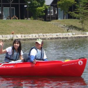 施設内に湖もあり、カヌーも出来ちゃいます!