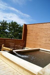 けひの海の露天風呂