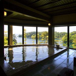 百楽荘の展望風呂