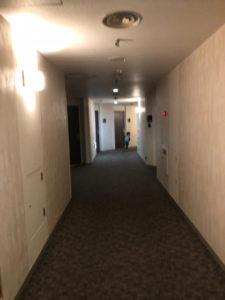 箕面観光ホテルの廊下