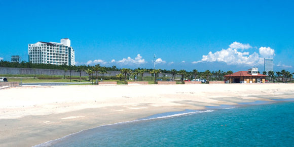 シェラトングランデのビーチ