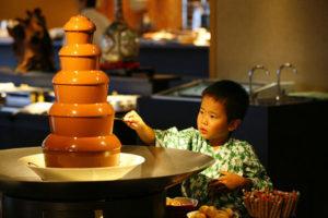 大江戸温泉きのさきのチョコレートファウンテン