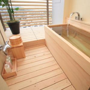 杉乃井ホテルの中館の半露天風呂