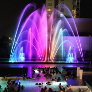 杉乃井ホテルのアクアガーデン噴水ショー