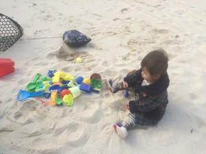 ルネッサンスリゾートで砂遊び