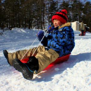 冬はスキーやそり遊びも