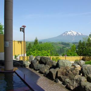 露天風呂から眺める岩木山、素敵です!