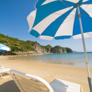 こっちがプライベートビーチのノースビーチ。カラフルなお魚さんが見えるらしい(#^^#)