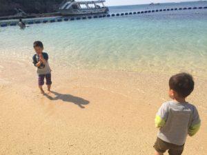 4月上旬の沖縄の海