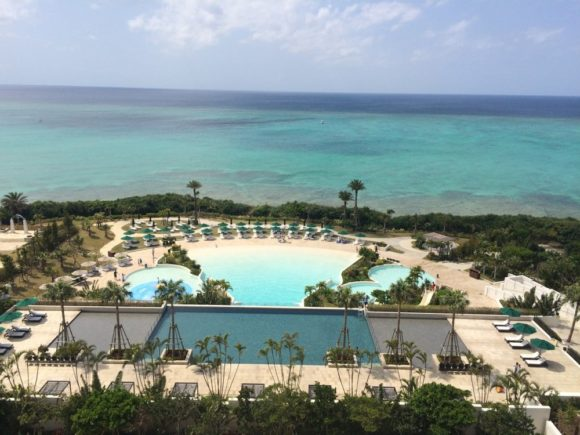 ホテルモントレの部屋からの景色