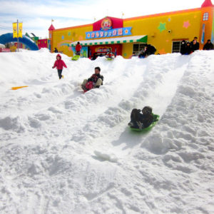 グリーンプラザ軽井沢の雪遊び