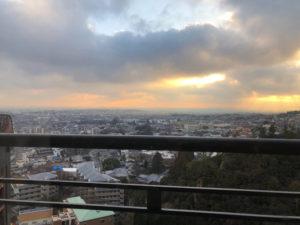 箕面観光ホテルの部屋からの景色