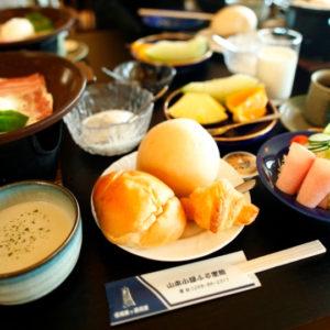 山本小屋ふる里館の朝食