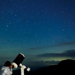 山本小屋ふる里館の天体観測