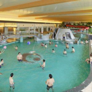 きぬ川ホテル三日月のプール