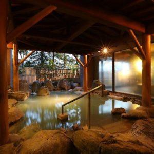ホテル櫻井のにごり湯の露天風呂