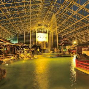 霧島ホテルの庭園大浴場3