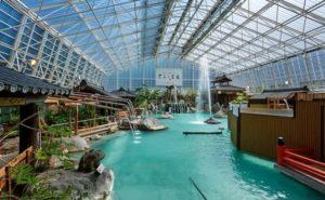 霧島ホテルの硫黄谷庭園大浴場