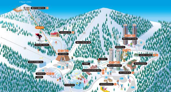 星野リゾートトマムのエリアマップ
