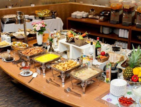 奈良健康ランドの朝食