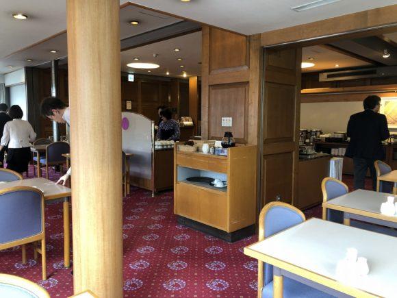 倉敷国際ホテルの朝食会場