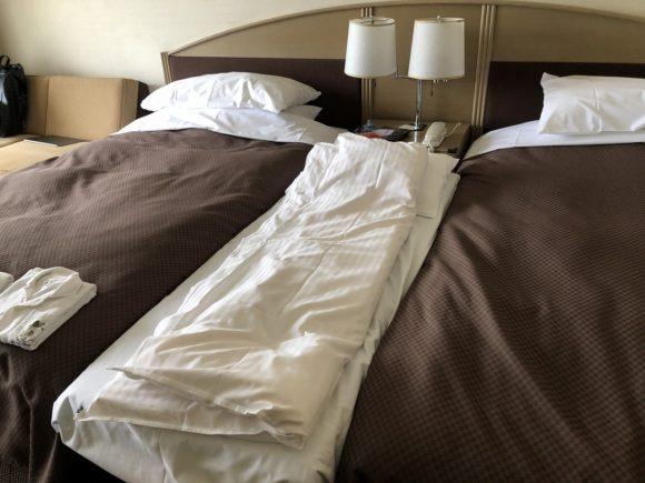 ツインルームの補助ベッド