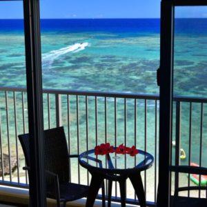 美ら海オンザビーチの部屋からの景色